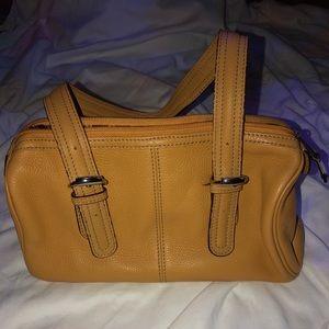 Tignanello small tan purse